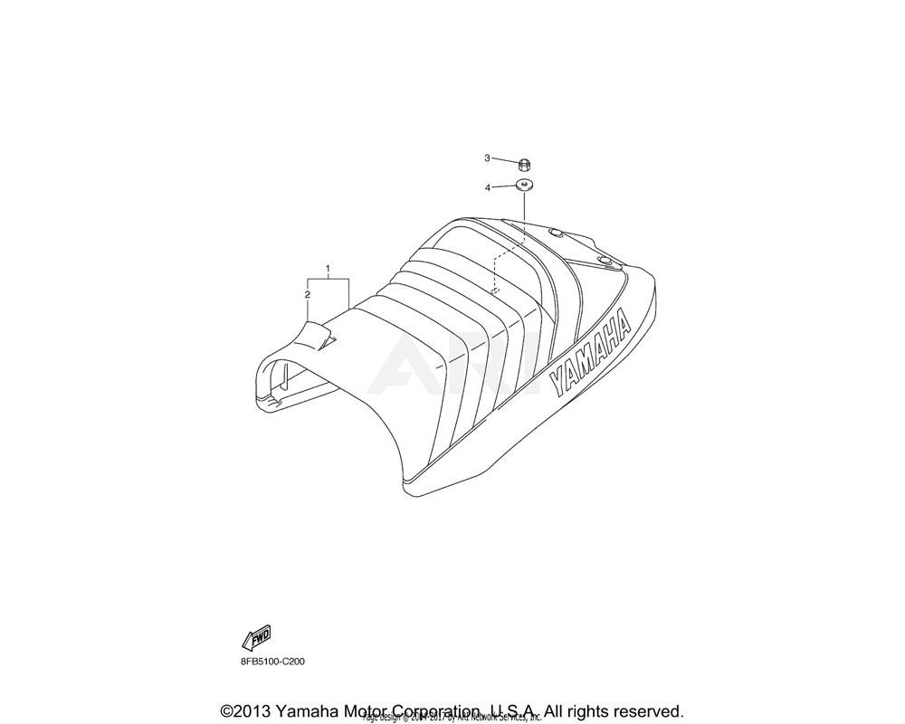 Yamaha OEM 8FE-24710-10-00 SINGLE SEAT ASSY