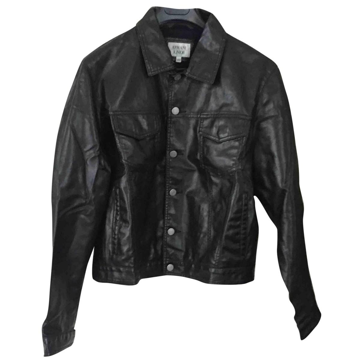 Armani Jeans \N Jacke in  Schwarz Synthetik