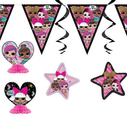 L.O.L.Surprise 1 Decoration Kit 7 pcs. Pour la fête d'anniversaire