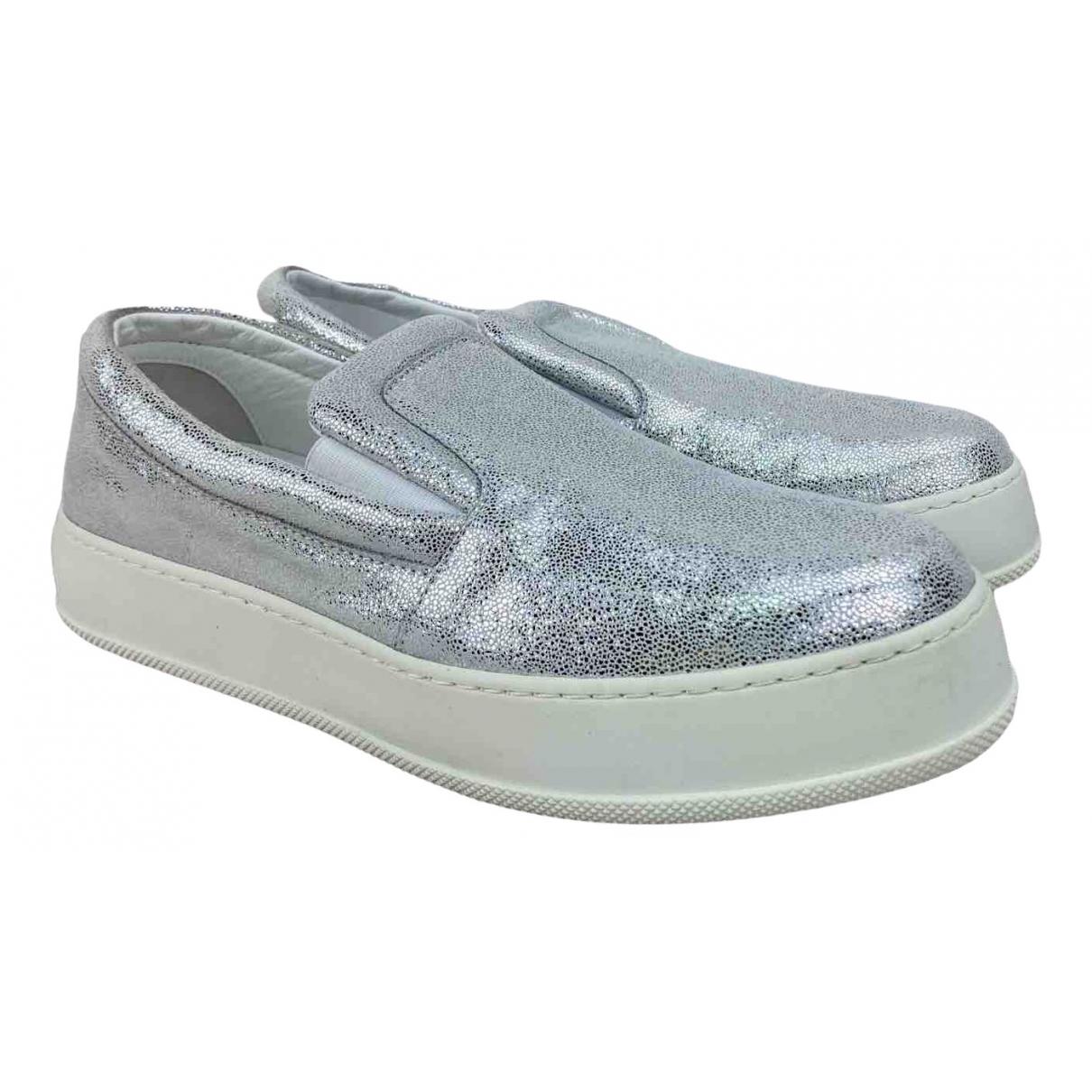 Max Mara \N Sneakers in  Silber Mit Pailletten