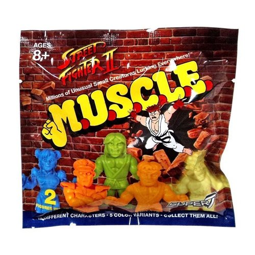 Street Fighter II M.U.S.C.L.E. Mini-Figures Wave 1 Blind Bag (Random 2-Pack)
