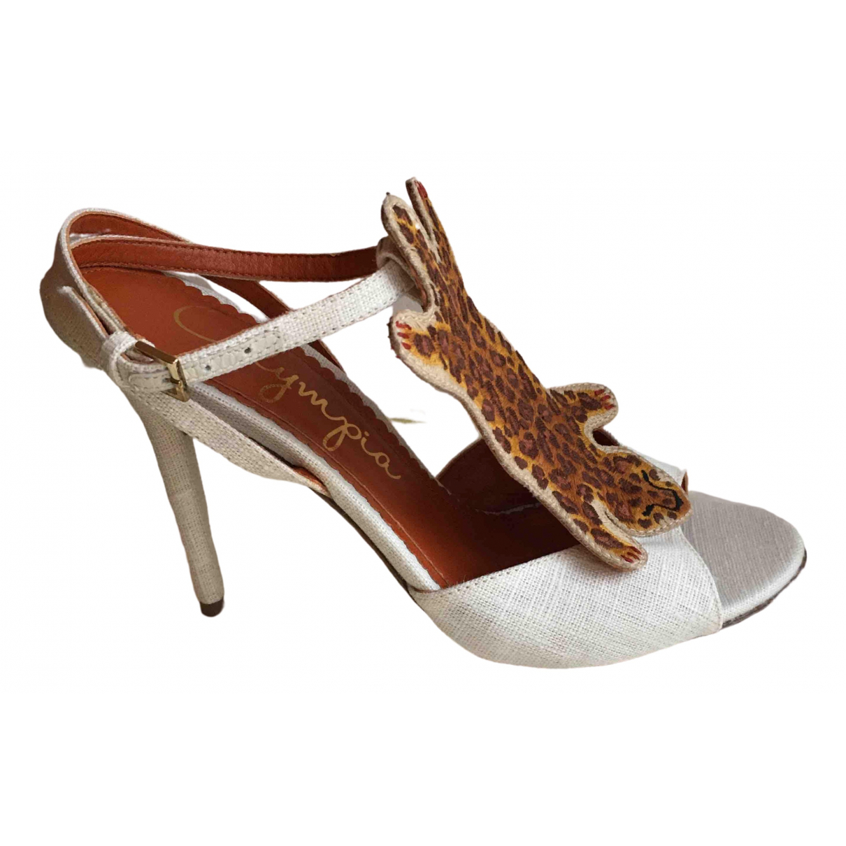 Charlotte Olympia \N Beige Leather Heels for Women 36 EU