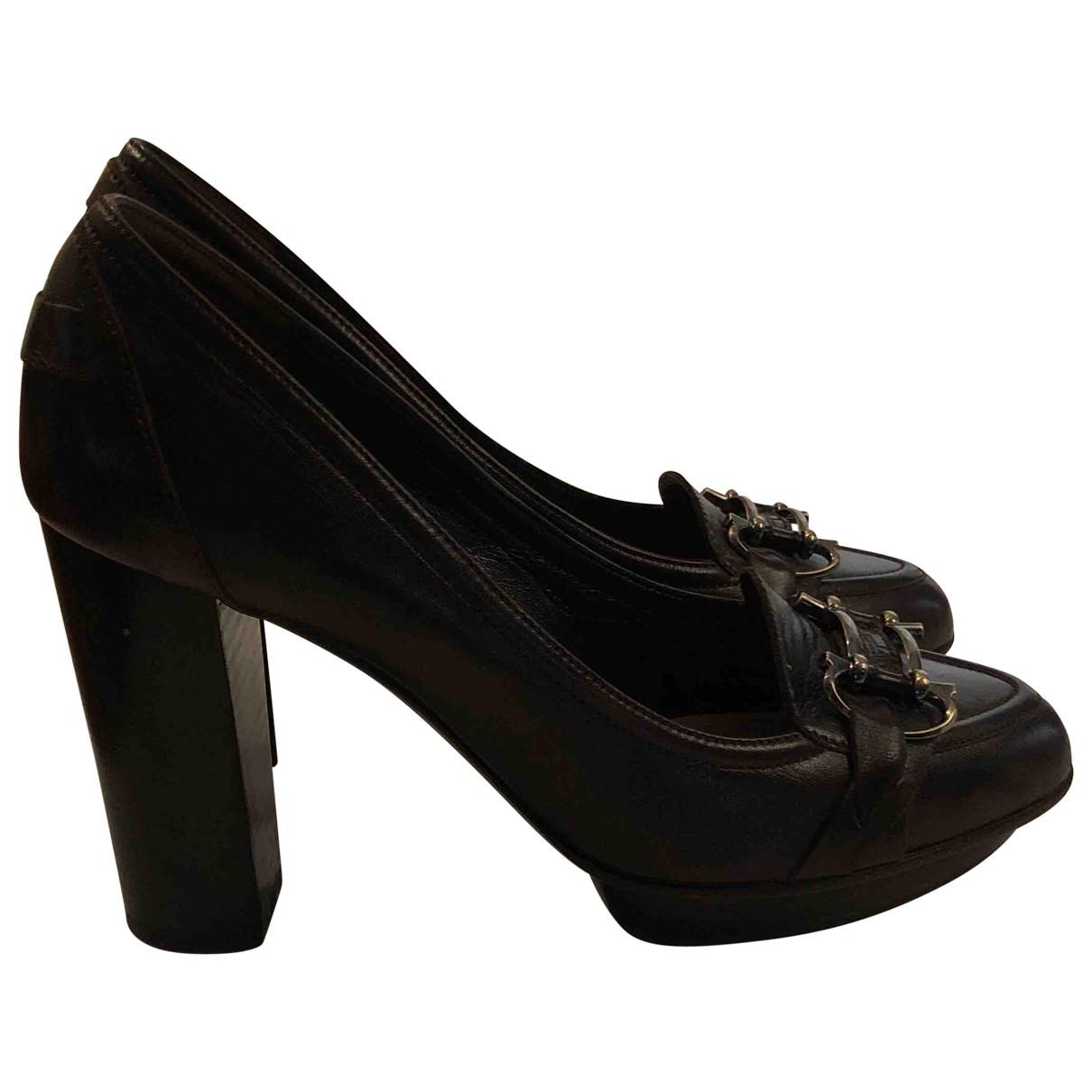 Salvatore Ferragamo \N Brown Leather Heels for Women 39 EU