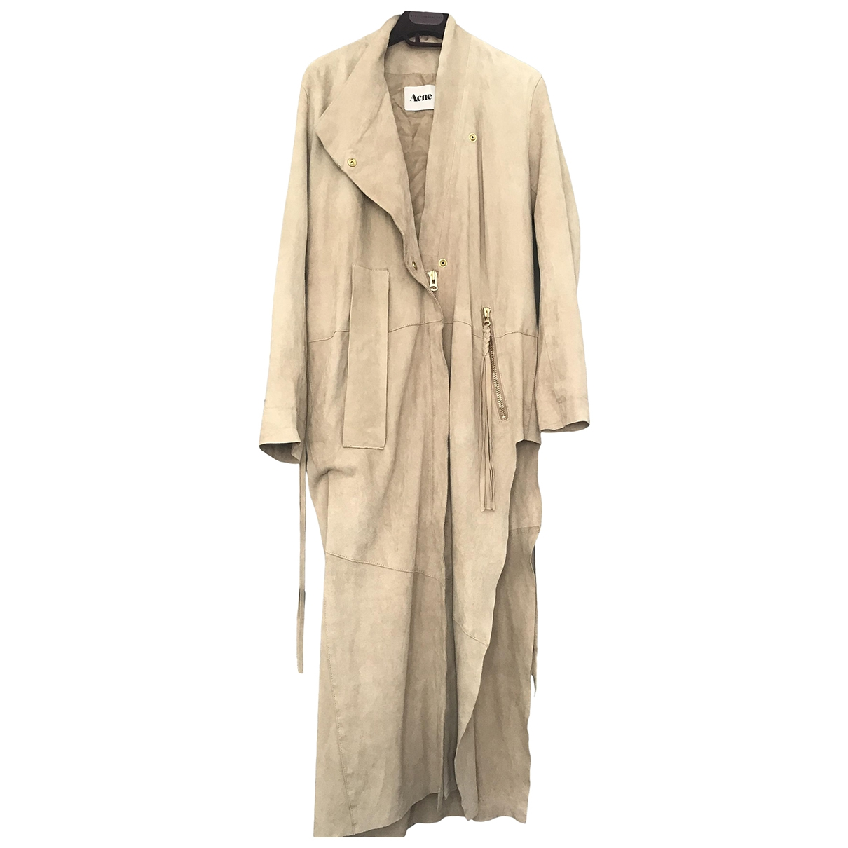 Acne Studios \N Beige Suede coat for Women 36 FR