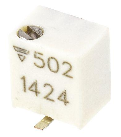 Vishay 5kΩ, SMD Trimmer Potentiometer 0.25W Top Adjust , TSM4 (5)