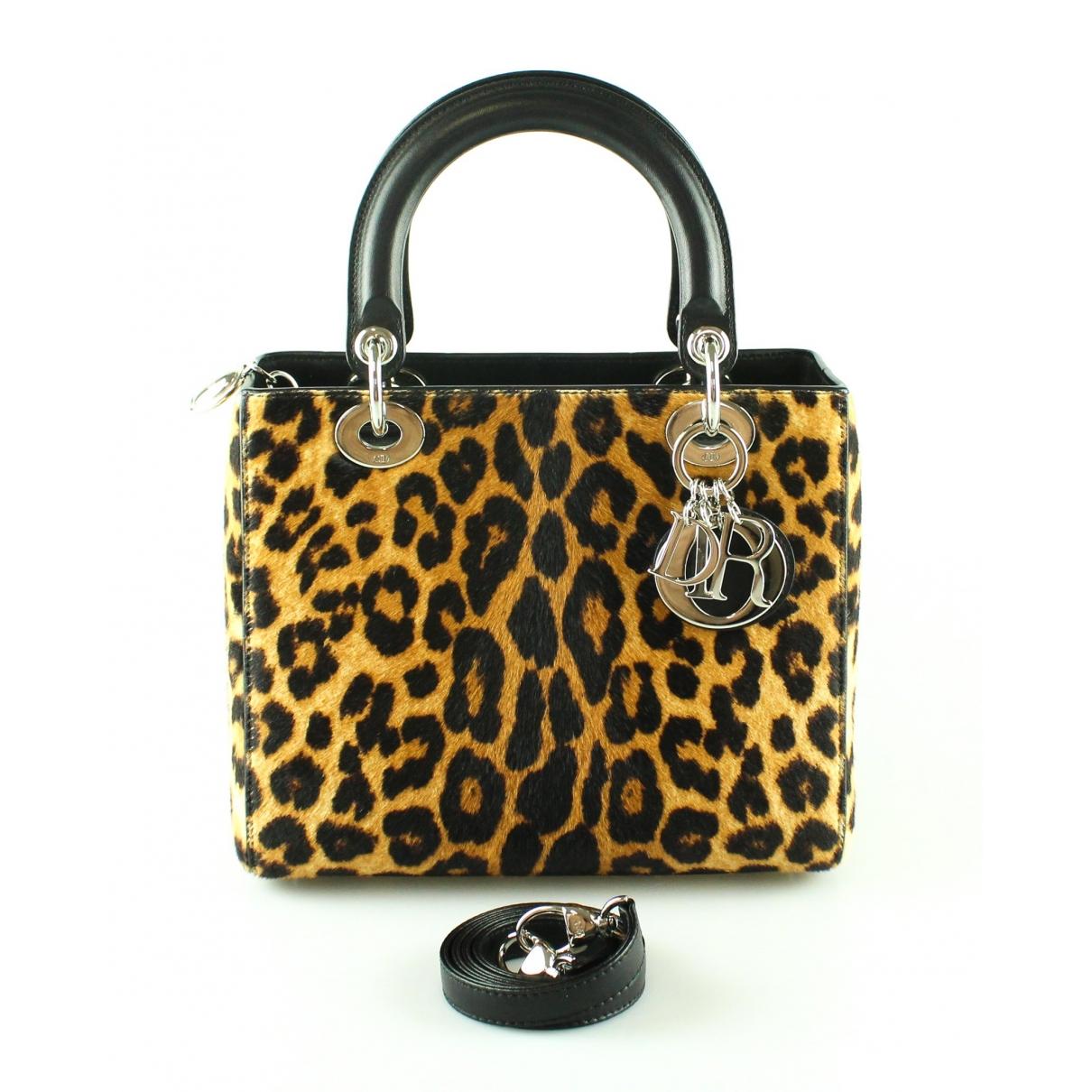 Dior Lady Dior Handtasche in Kalbsleder in Pony-Optik