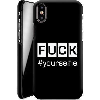Apple iPhone X Smartphone Huelle - Fck Yourselfie von Statements