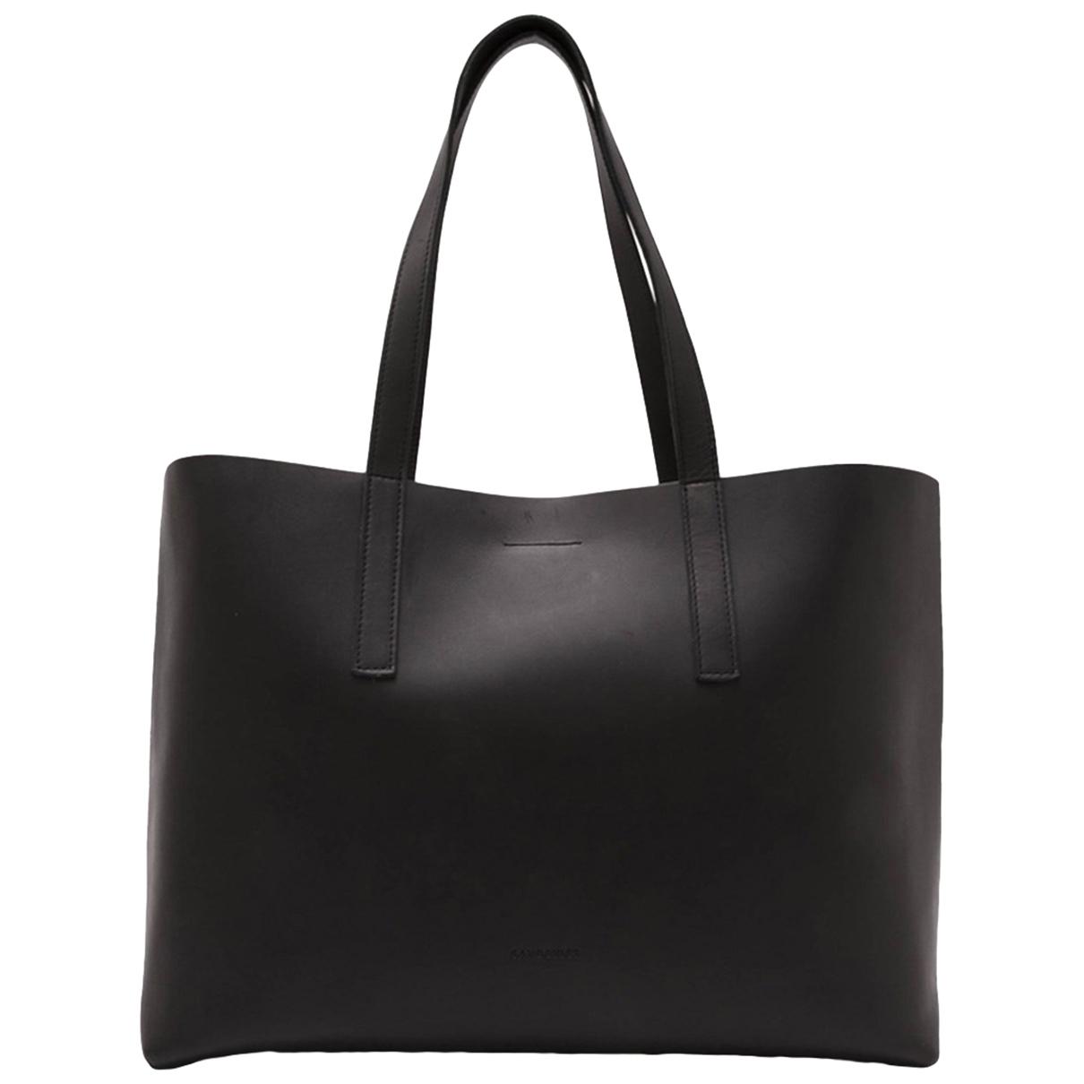 Sandqvist \N Handtasche in  Schwarz Leder