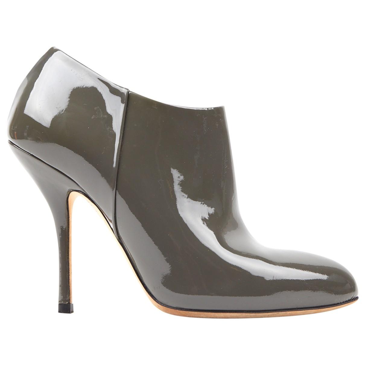 Gucci - Bottes   pour femme en cuir verni - gris