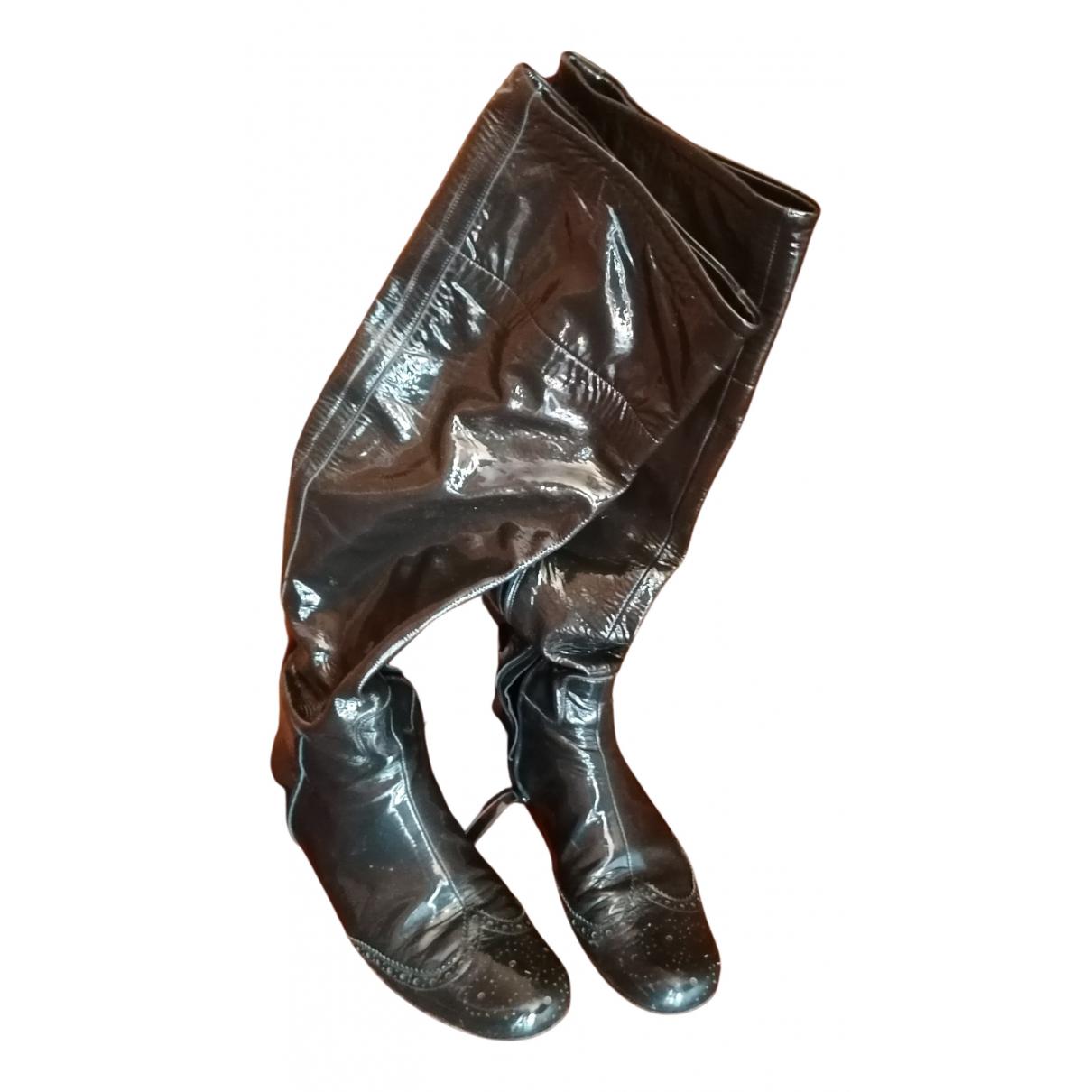 Miu Miu \N Stiefel in  Schwarz Lackleder