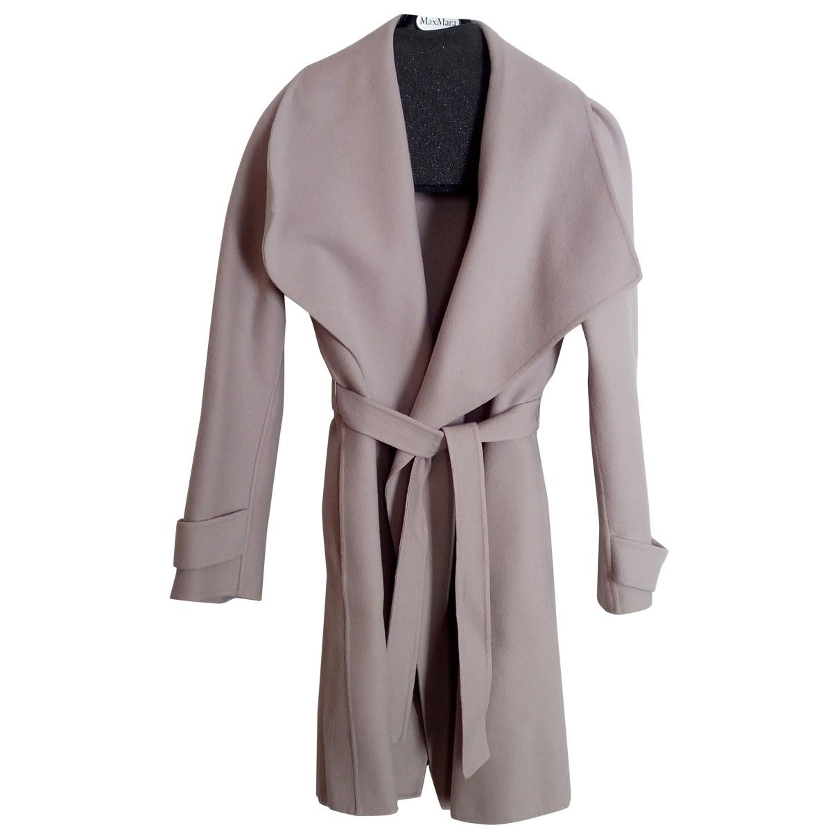 Max Mara - Manteau   pour femme en laine - beige