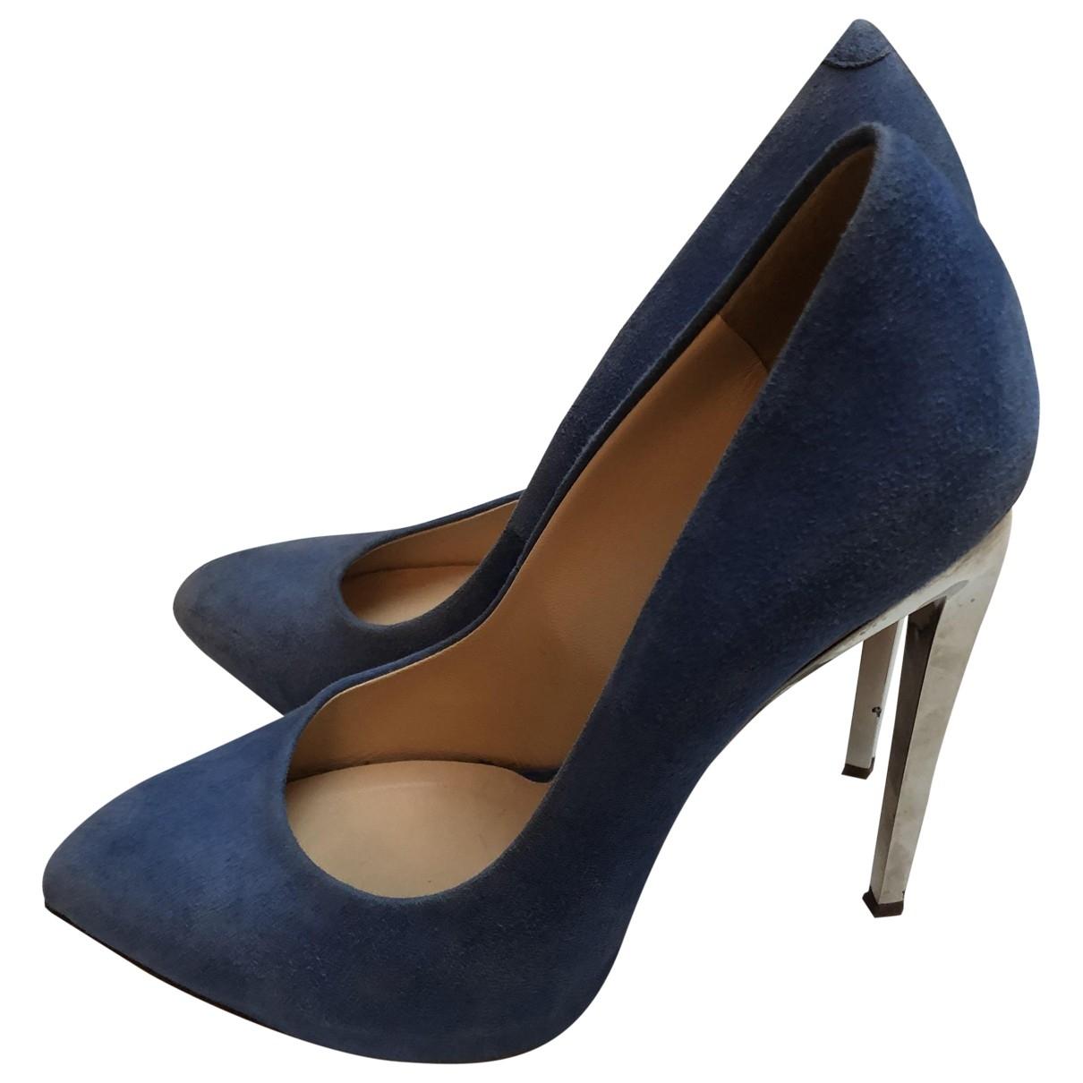 Giuseppe Zanotti \N Blue Suede Heels for Women 39 EU