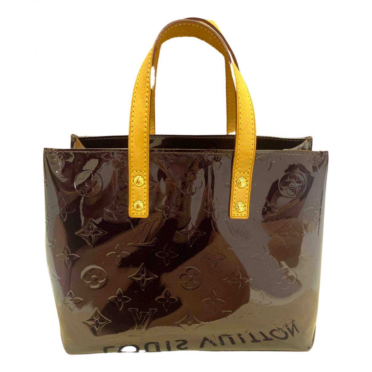 Louis Vuitton Reade Burgundy Patent leather handbag for Women \N