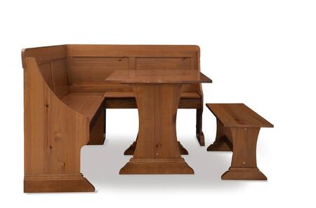 KNK157PINABU Midwest Pine Breakfast Nook With Table and