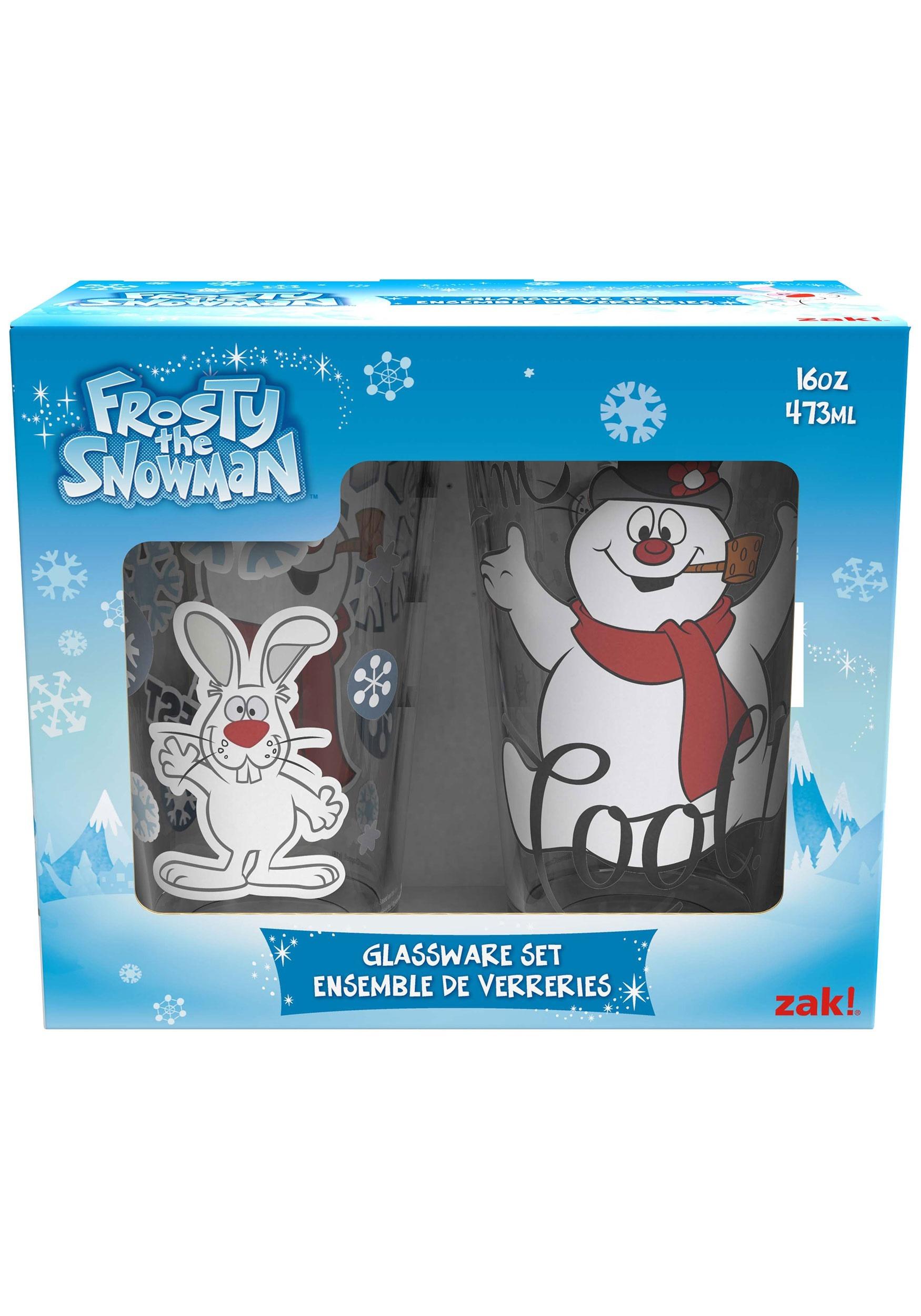 Frosty the Snowman Glass Set 2pc