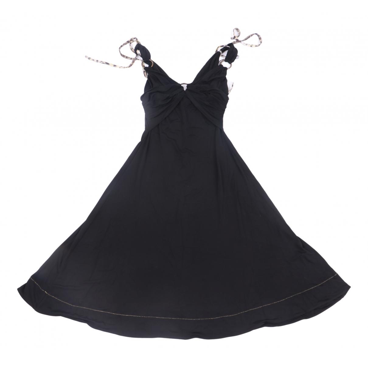 Just Cavalli \N Kleid in  Schwarz Viskose