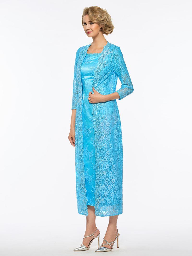 Ericdress Sheath Lace Tea Length Mother of the Bride Dress