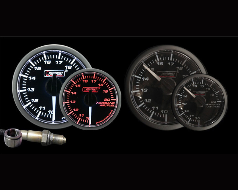 Prosport Performance Wideband Air Fuel Ratio with Bosch O2 Sensor Gauge Kit | Peak Warning