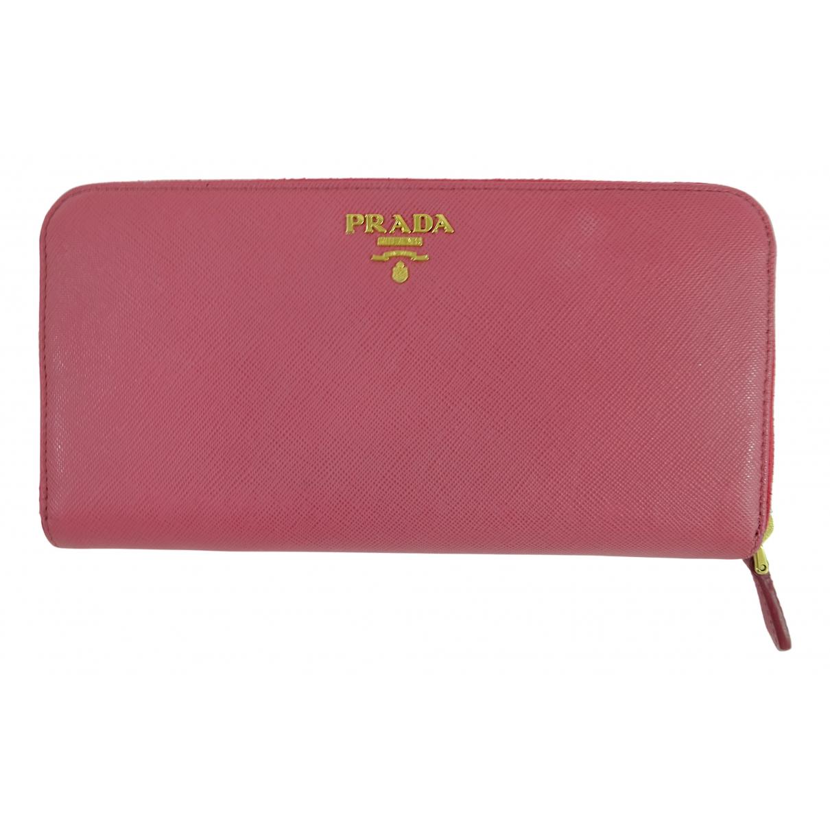 Prada N Pink Leather wallet for Women N
