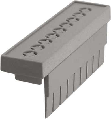 CAMDENBOSS 52.8 x 13.8 x 20mm Terminal Guard for use with CNMB DIN Rail Enclosure, Grey