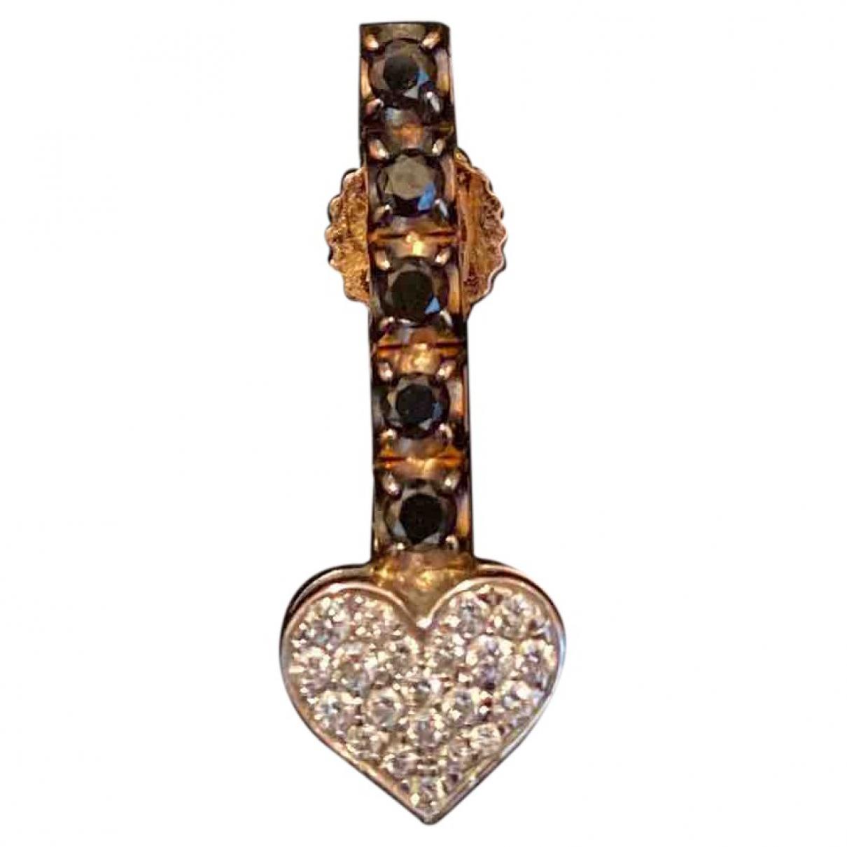 - Boucles doreilles Motifs Coeurs pour femme en or rose - noir