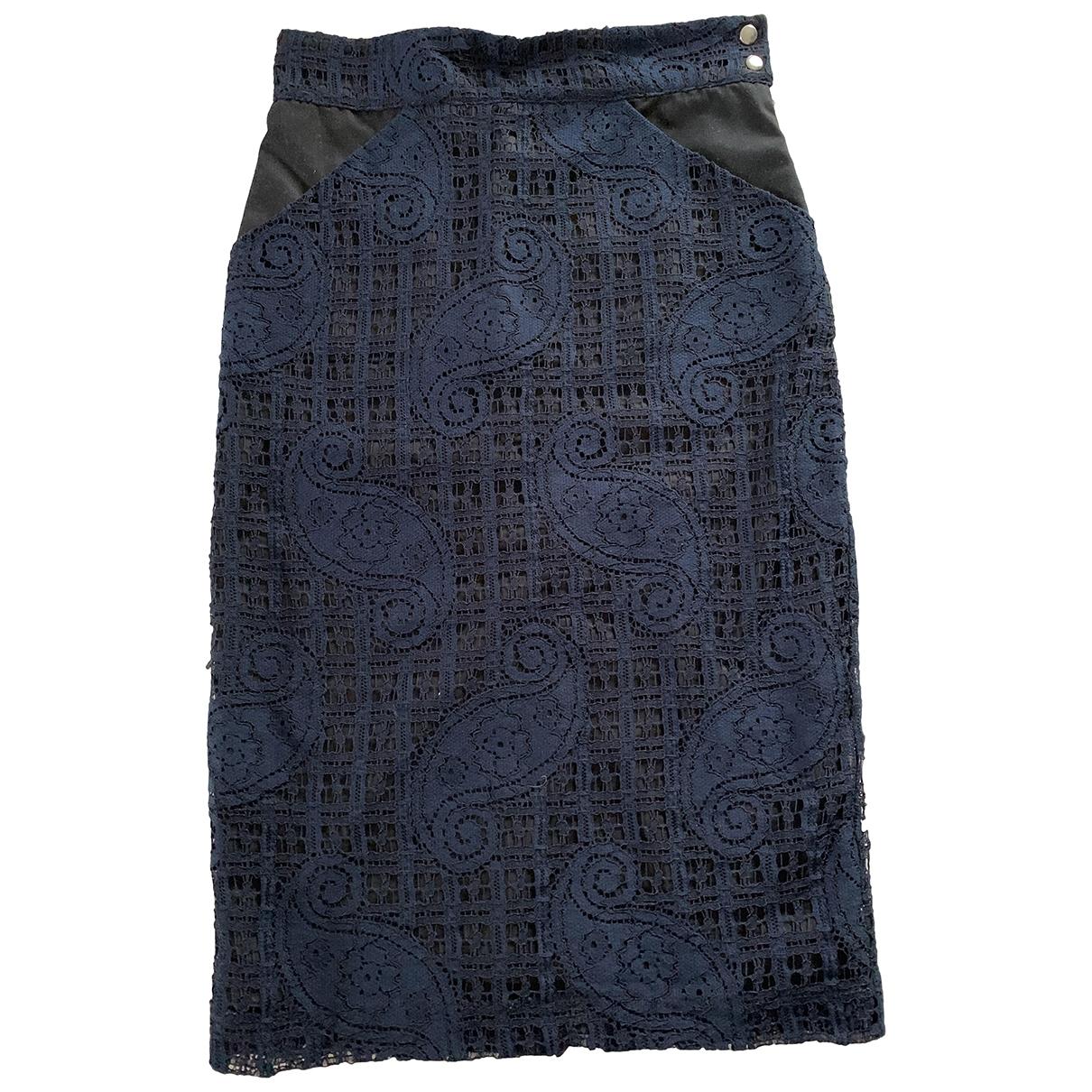 Roseanna - Jupe   pour femme en coton - marine