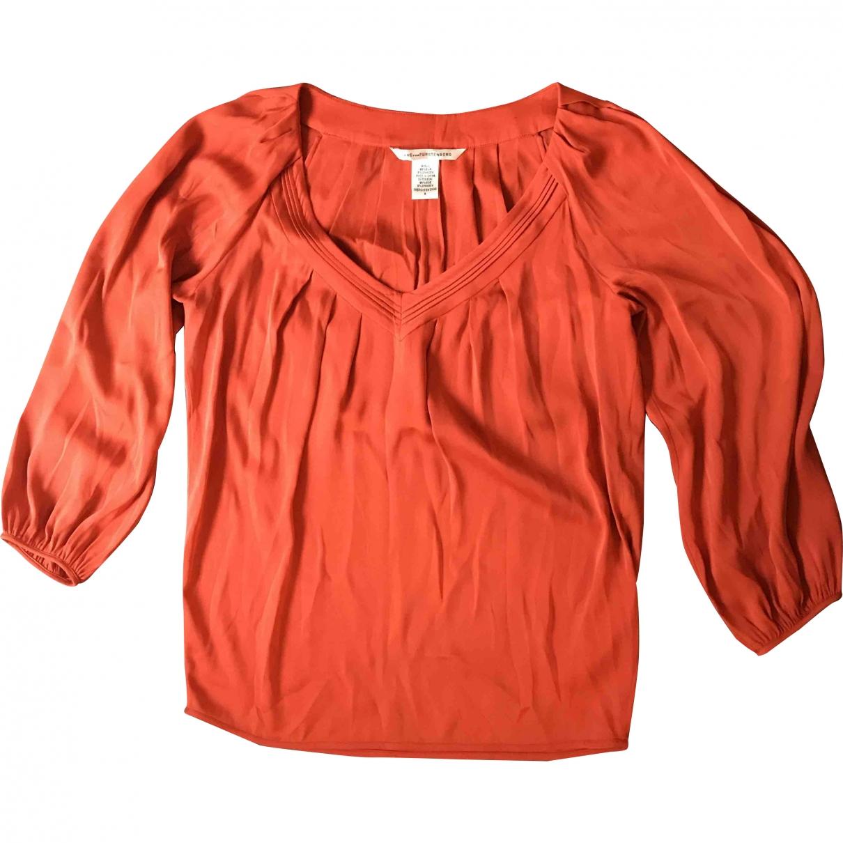 Diane Von Furstenberg - Top   pour femme en soie - orange