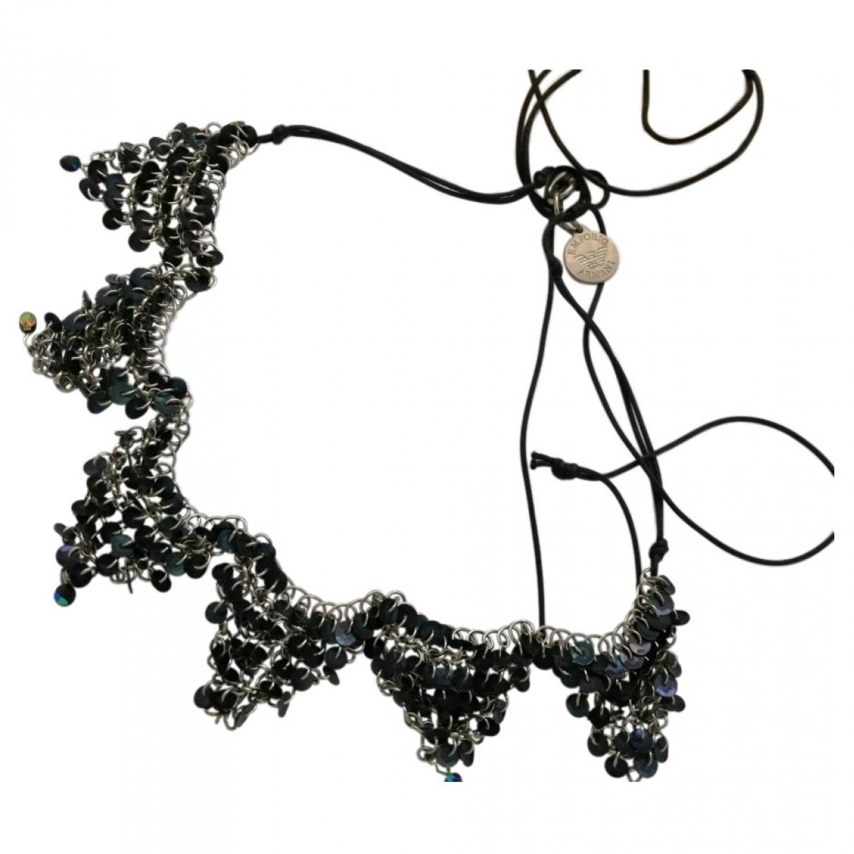 Emporio Armani \N Black Silver necklace for Women \N