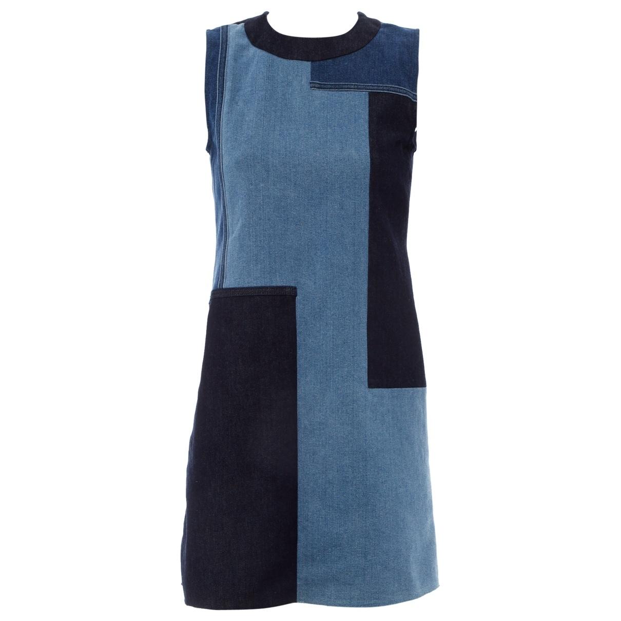Victoria Beckham \N Kleid in  Blau Baumwolle