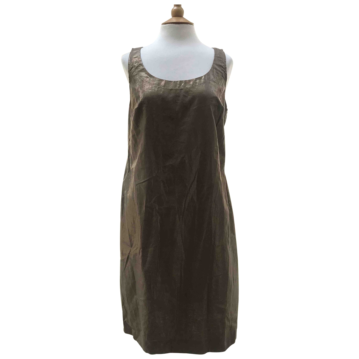 Rozae Nichols \N Kleid in  Metallic Leinen
