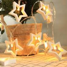 1pc String Light With 10pcs Star Shaped Bulb