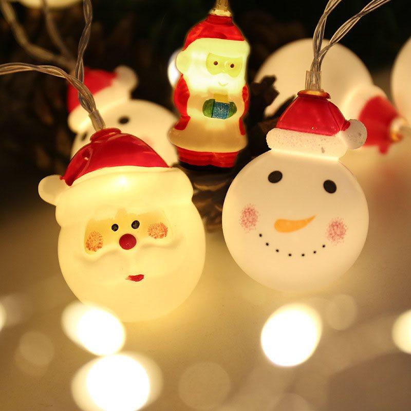 Christmas Decorations LED Lights Christmas Snowman Santa Claus Home Decoration Lamp String