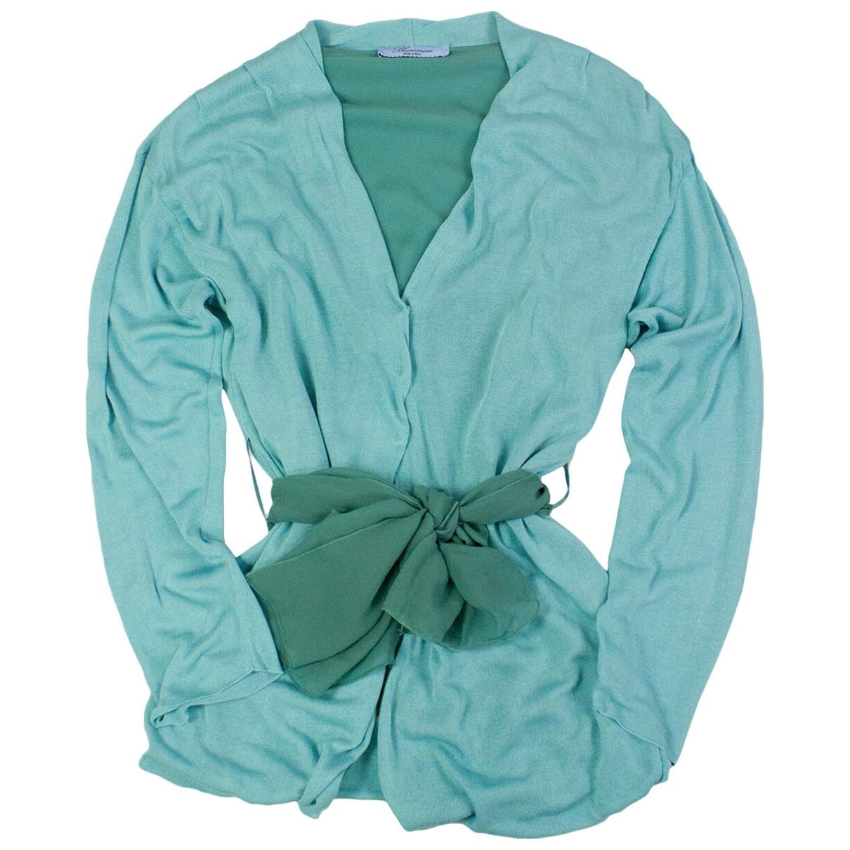 Blumarine - Pull   pour femme en soie - bleu