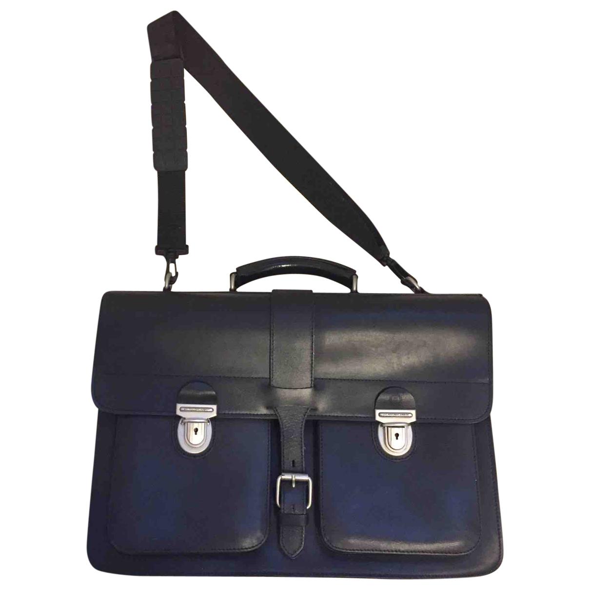 Ag Spalding & Bros \N Black Leather bag for Men \N