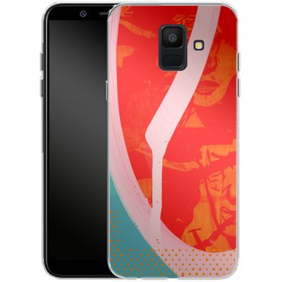 Samsung Galaxy A6 Silikon Handyhuelle - Saturated Wall von Brent Williams