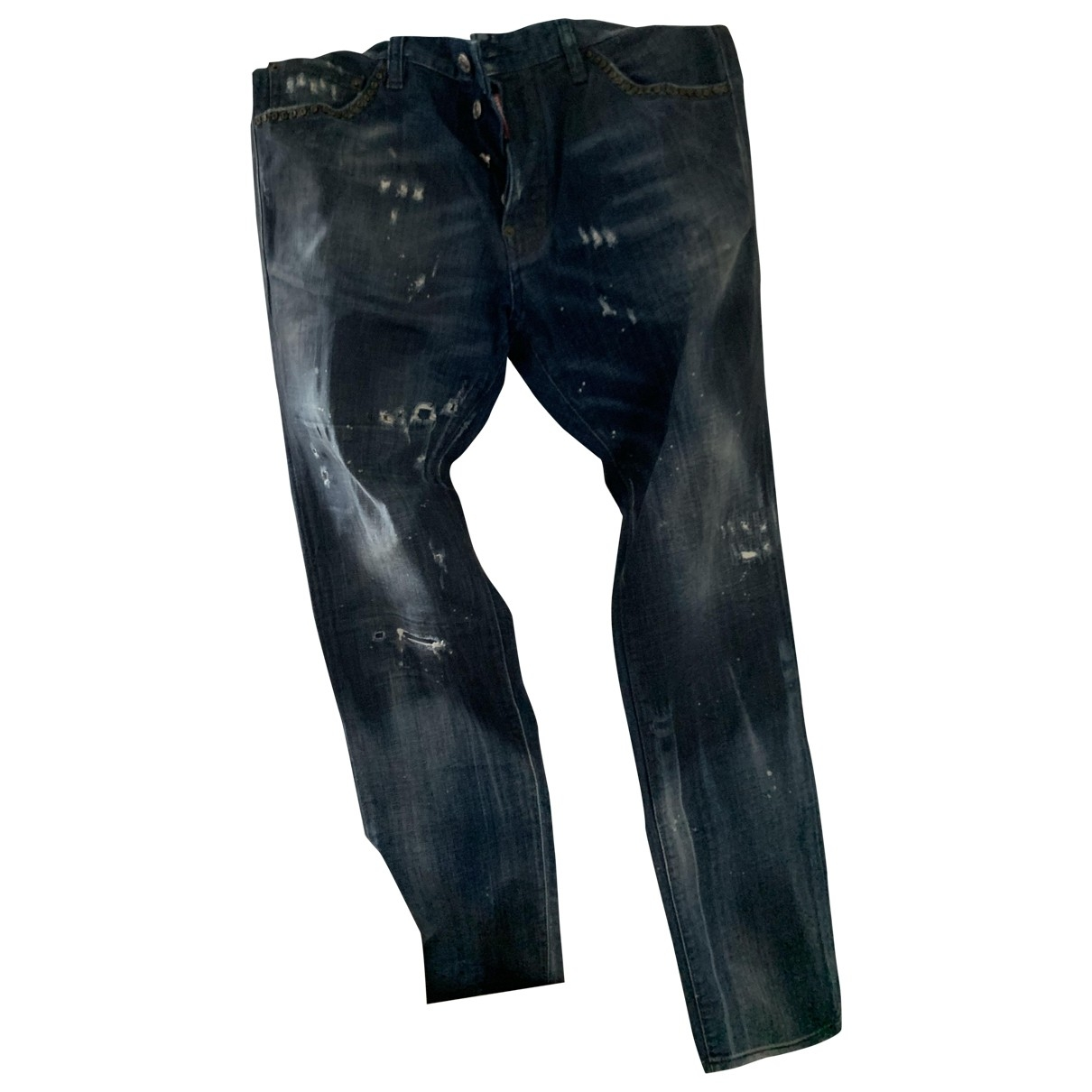 Dsquared2 \N Blue Cotton Jeans for Men 46 FR