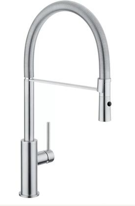 Raffaello Collection 522015-NST Single Handle Kitchen Faucet with 1.75 GPM Flow Rate  140 Degree Spout Rotation  Dual Function Pull-Down Spray and