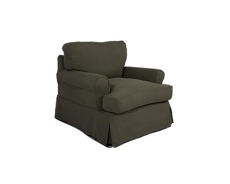 SU-117620SC-410026 Horizon Chair - Slip Cover Set Only -  Forest