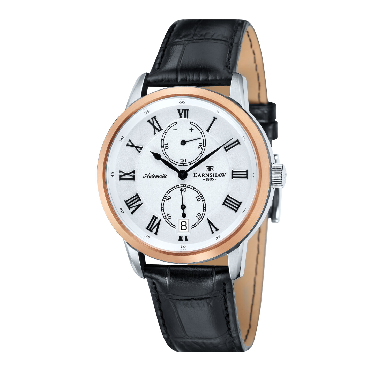 Thomas Earnshaw Men's Chancery ES-8035-02 White Leather Hand Wind Fashion Watch