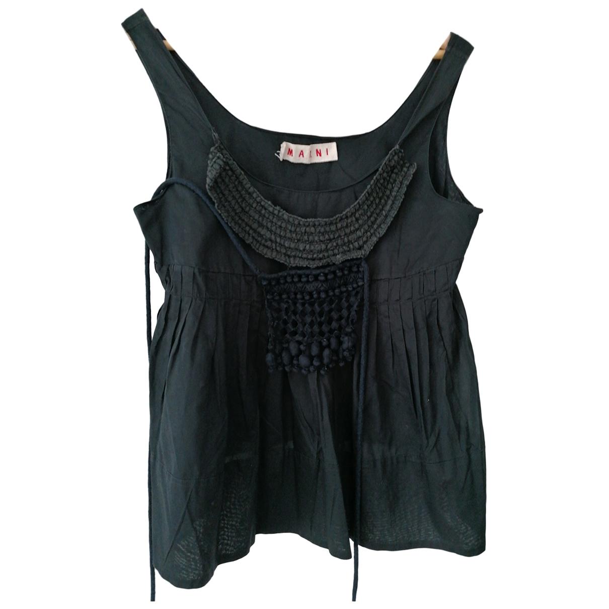 Marni \N Black Cotton  top for Women 44 IT