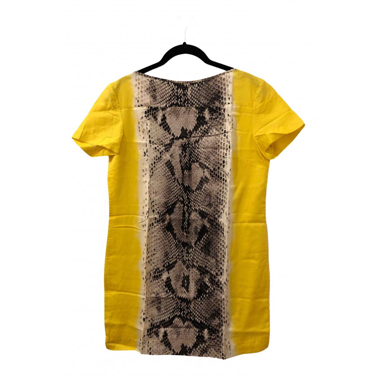 Just Cavalli \N Kleid in  Gelb Baumwolle