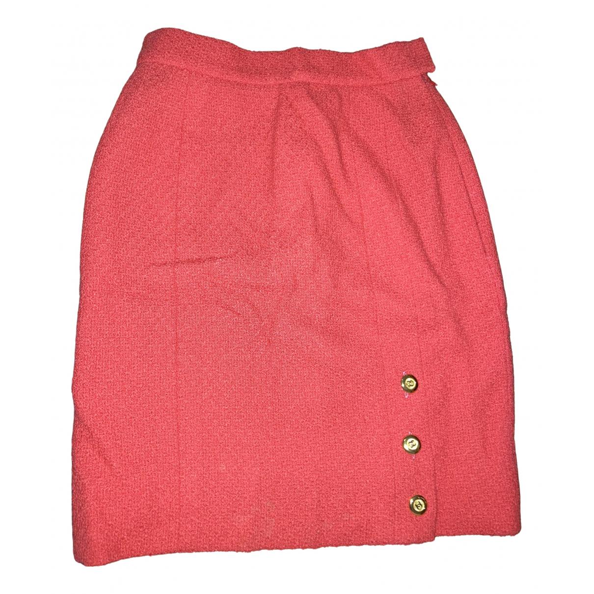 Chanel - Jupe   pour femme en laine - rouge