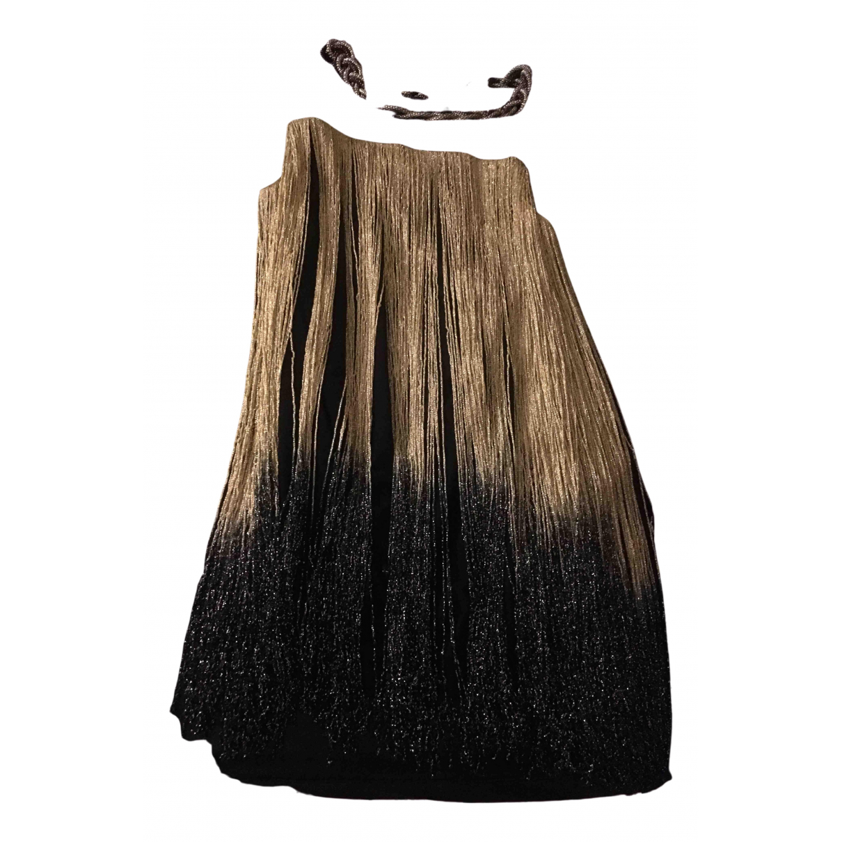 Non Signé / Unsigned N Gold dress for Women 12 UK