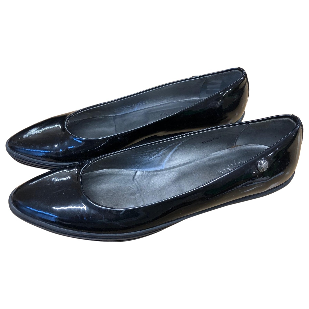 Hogan \N Black Patent leather Flats for Women 38.5 EU