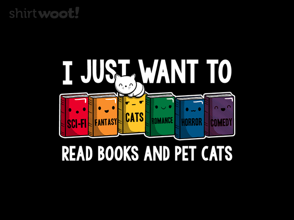 Read Books And Pet Cats T Shirt