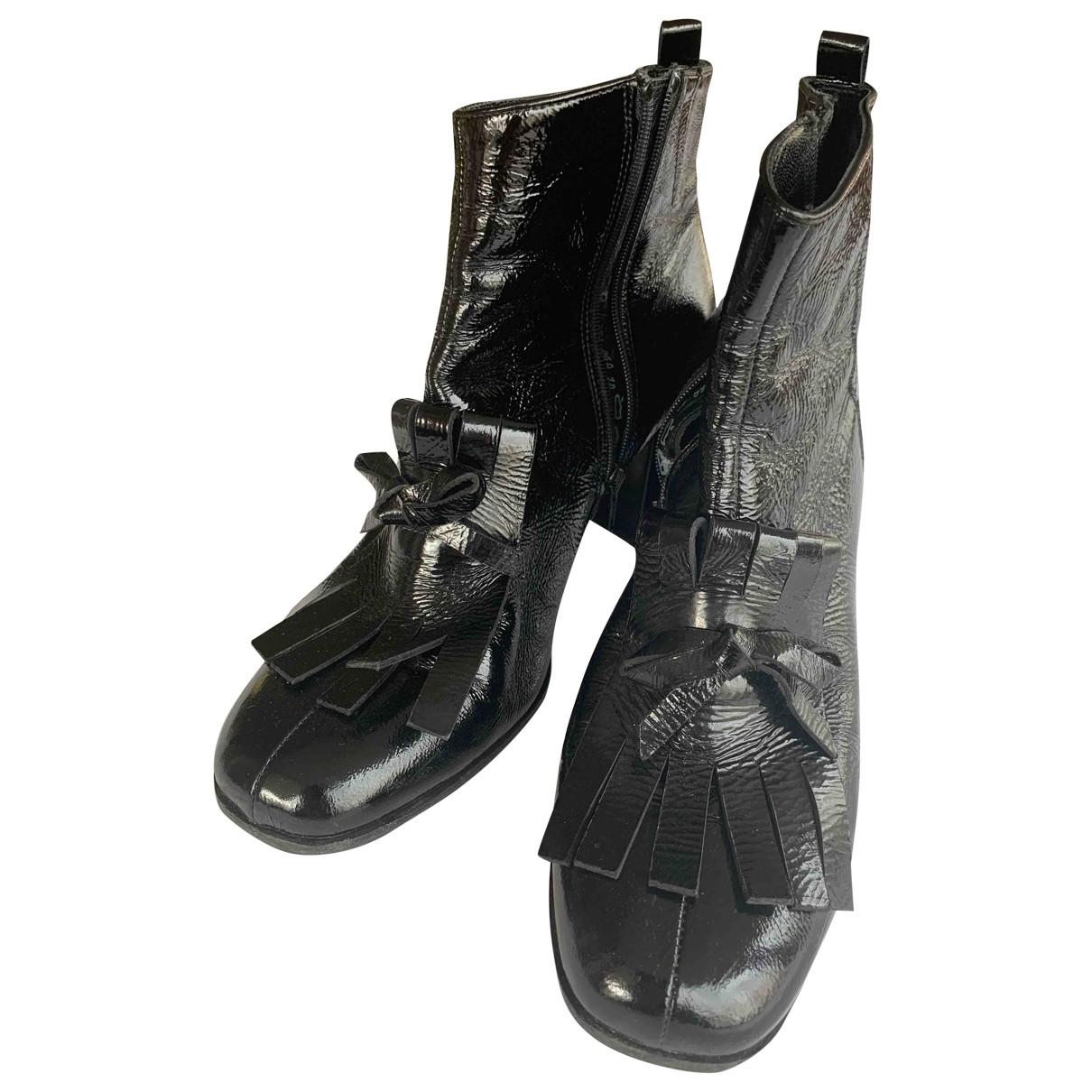Kennel Und Schmenger - Boots   pour femme en cuir verni - noir