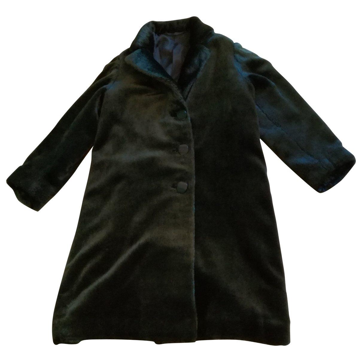 - Manteau Hippie Chic pour femme en fourrure synthetique - vert