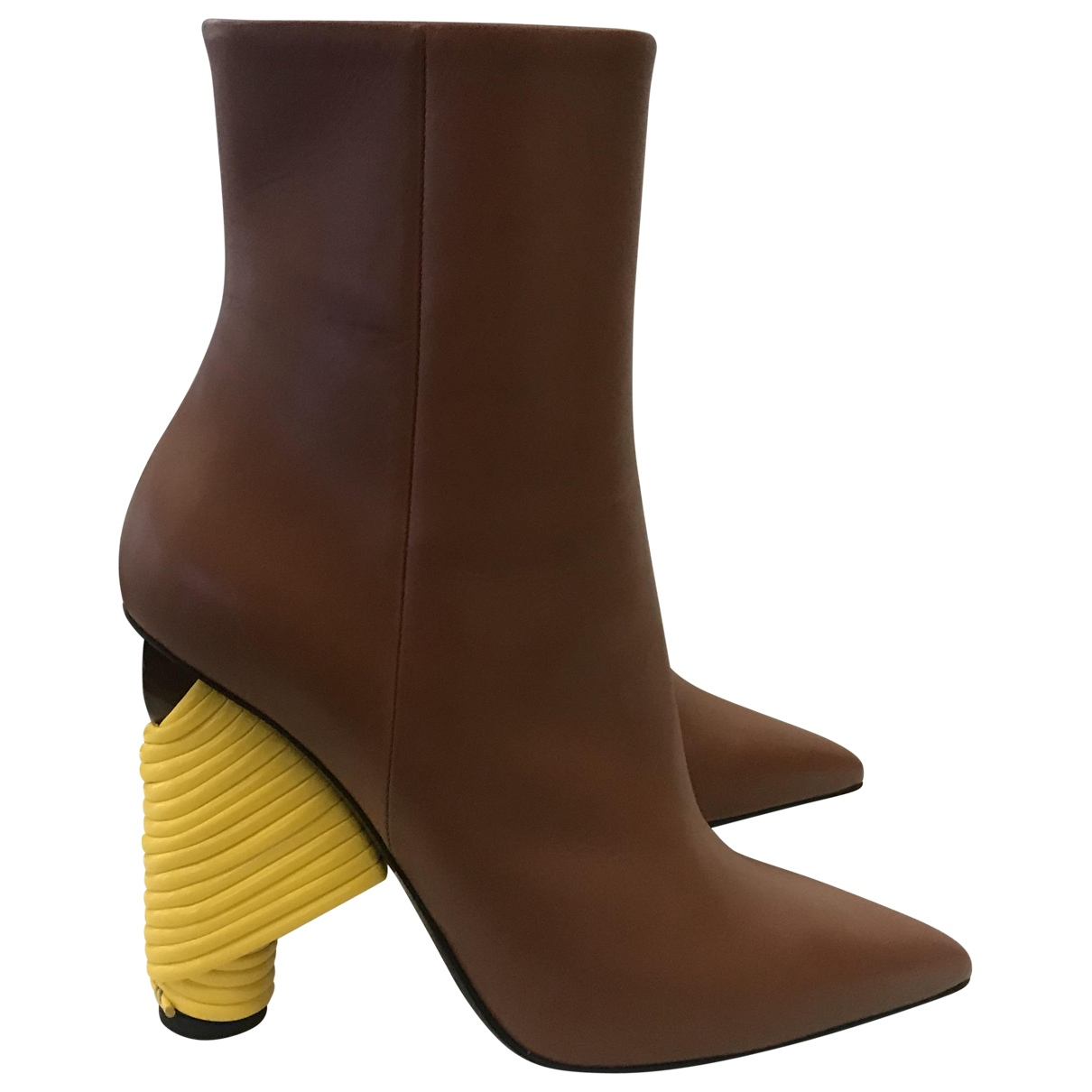 Balenciaga - Bottes   pour femme en cuir - marron