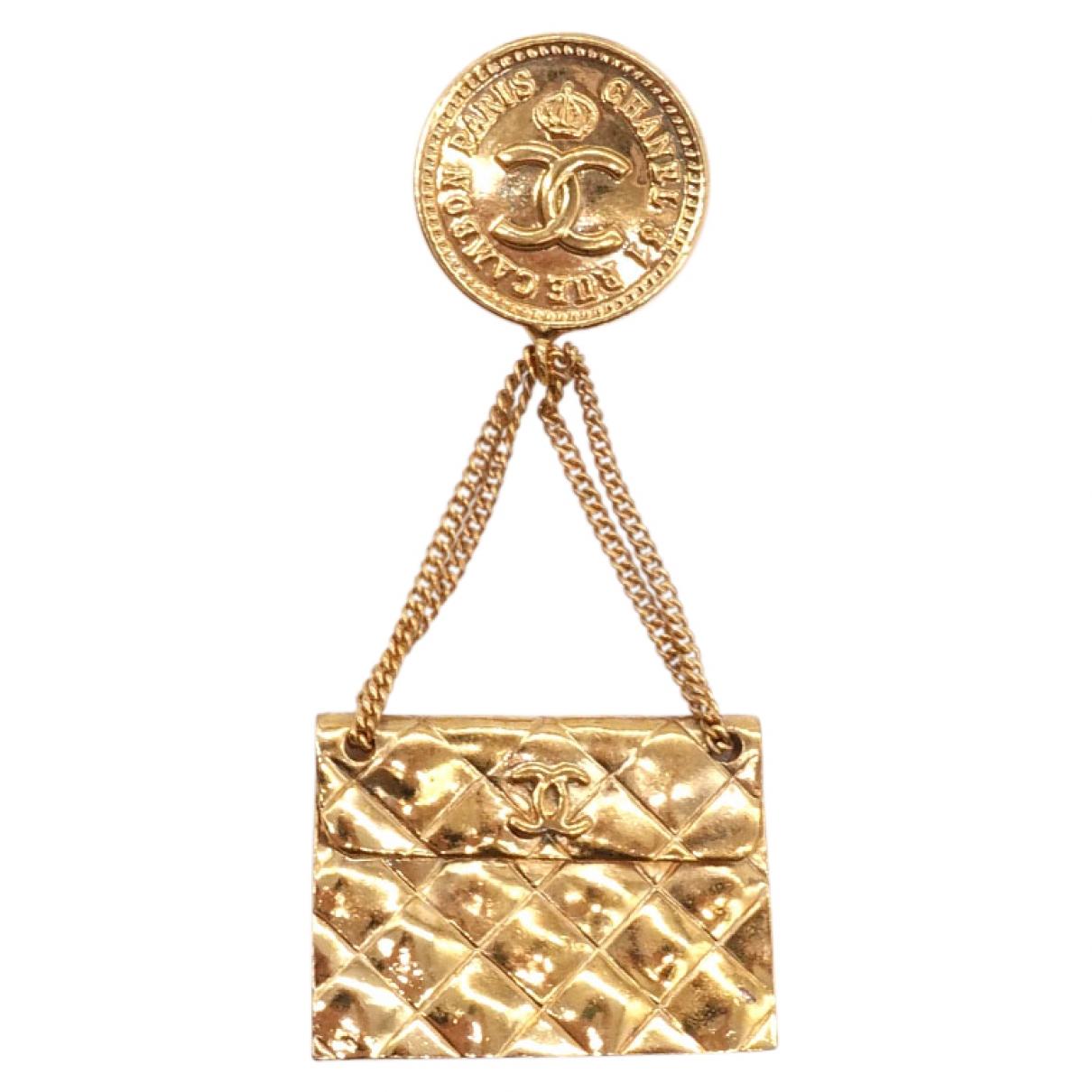 Broche Matelasse en Chapado en oro Dorado Chanel