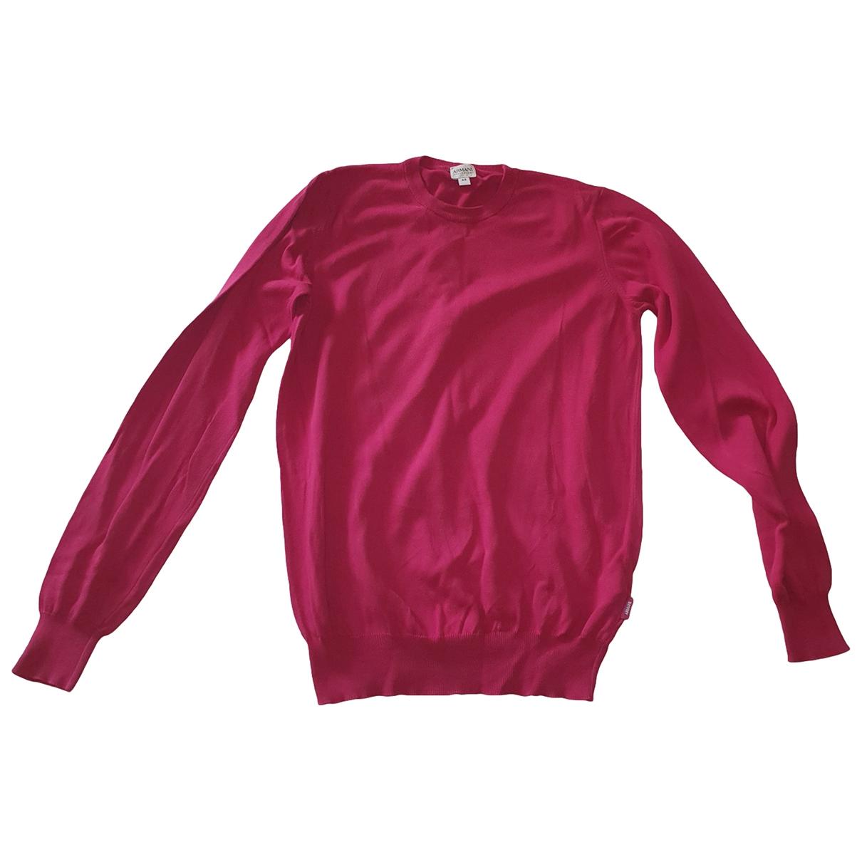 Armani Collezioni \N Pullover.Westen.Sweatshirts  in  Rot Baumwolle